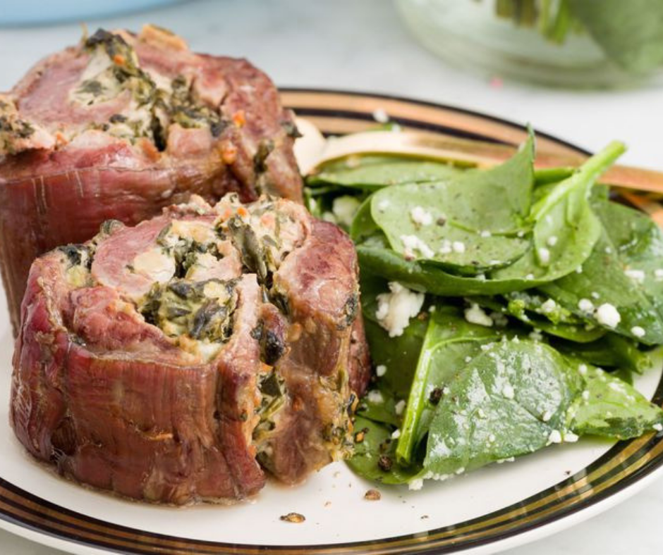 Spinach-and-Artichoke Steak Roll-Ups - food-drink-recipes.com