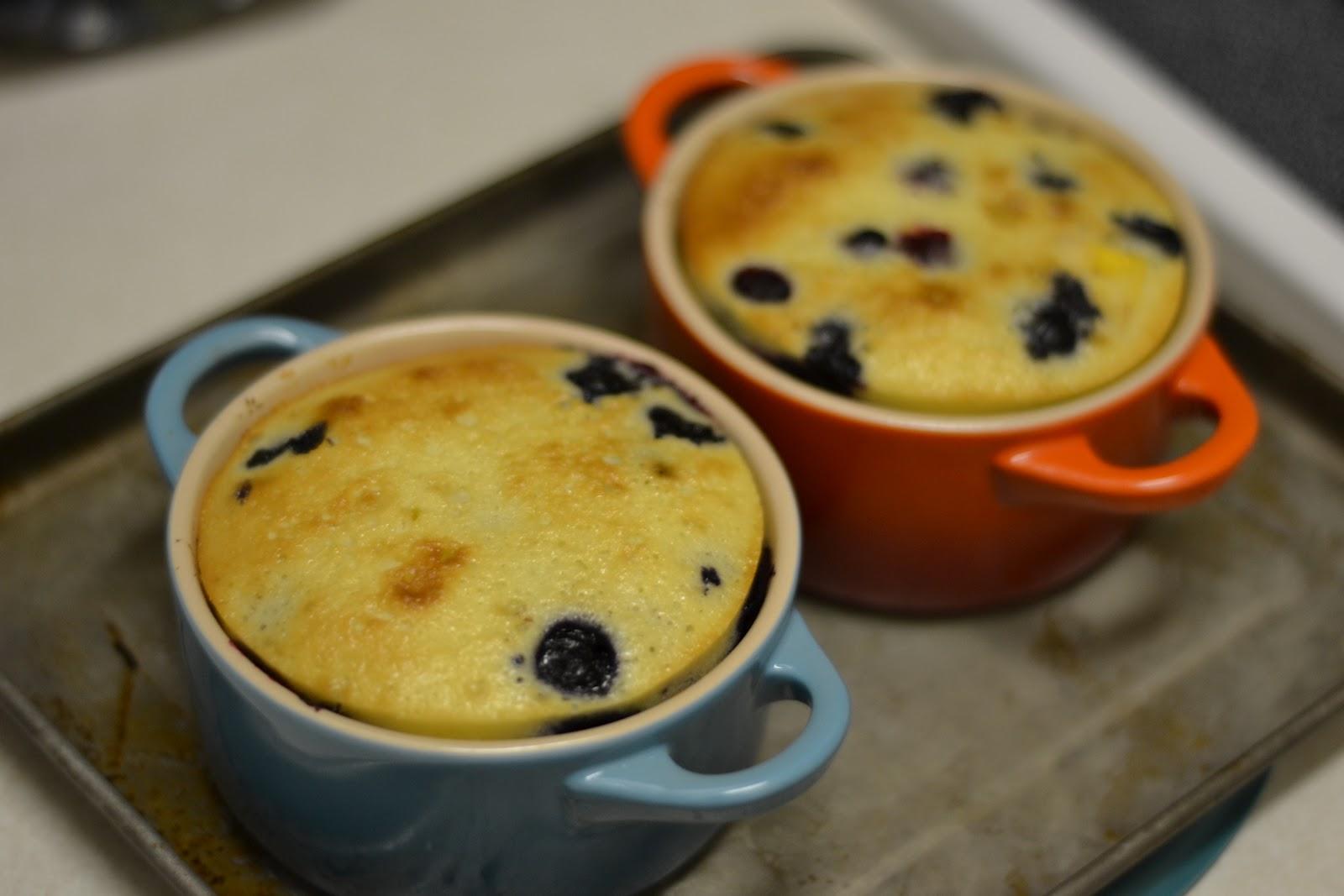 The Eibls: Peach And Blueberry Clafoutis; Coffee Bar