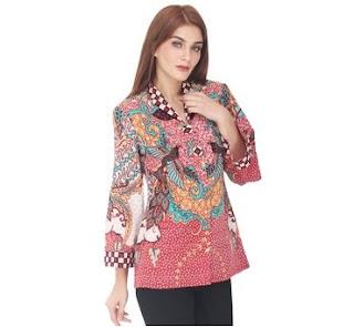Atasan Model Baju Batik Kerja