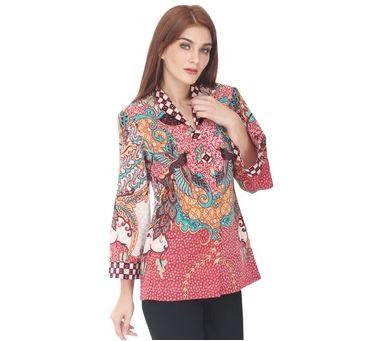 Trend Model Baju Dinas Guru Setelan Batik Modern Model