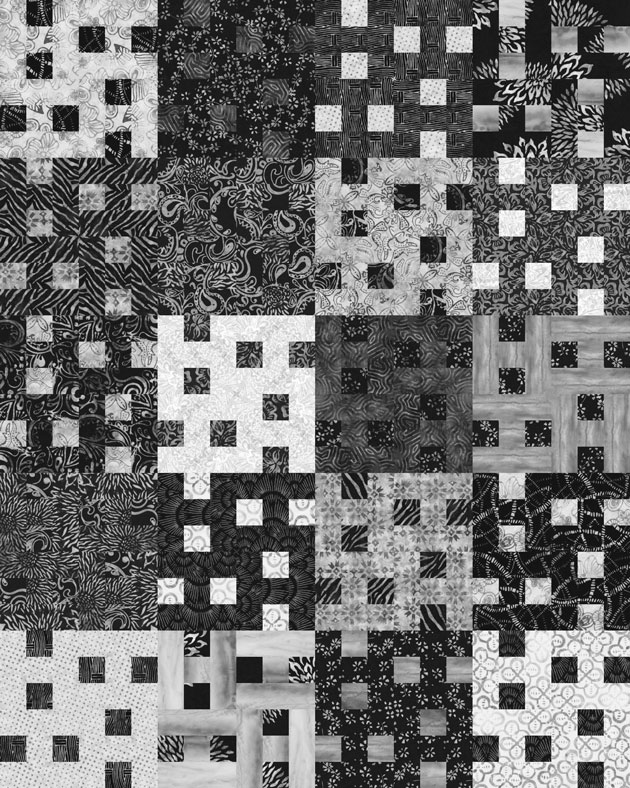 Black And White Geometric Quilt : black, white, geometric, quilt, Quilt, Inspiration:, Pattern, Black, White, Quilts