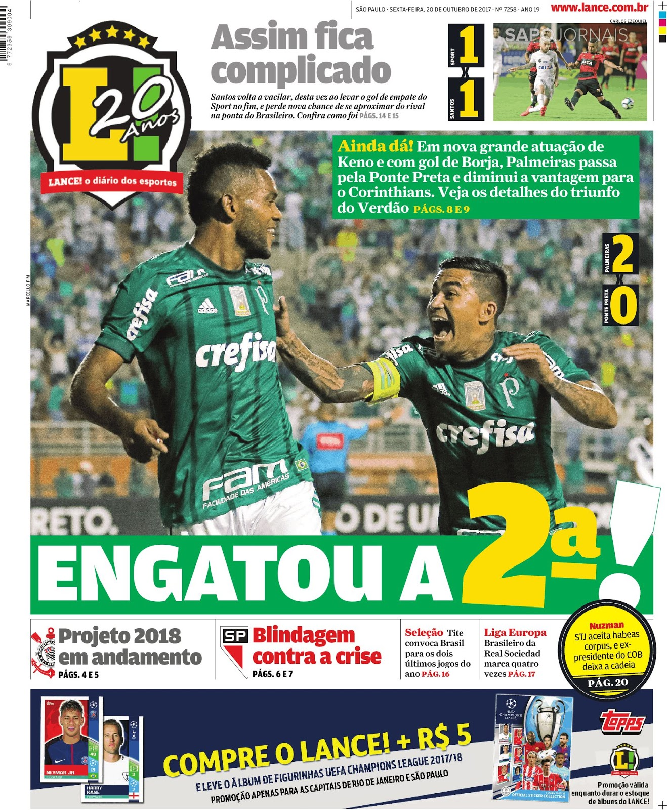 fc05ae7906 Palmeiras supera Ponte Preta e é terceiro colocado - Atlético(PR ...