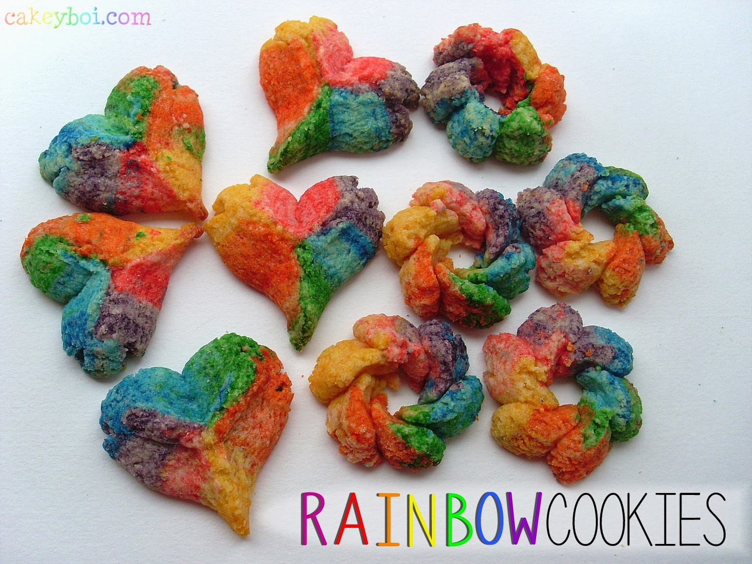 rainbow spritz cookies