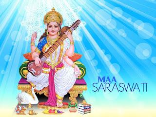 saraswati mata painting