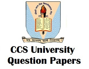 Chaudhary Charan Singh University Question Paper