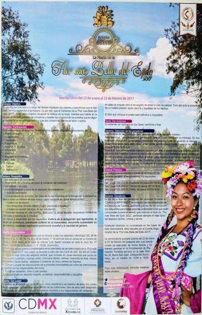 la flor más bella del ejido xochimilco 2017