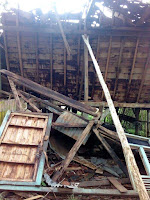 Sejumlah Rumah Warga Kuta Rusak Dihantam Angin Kencang