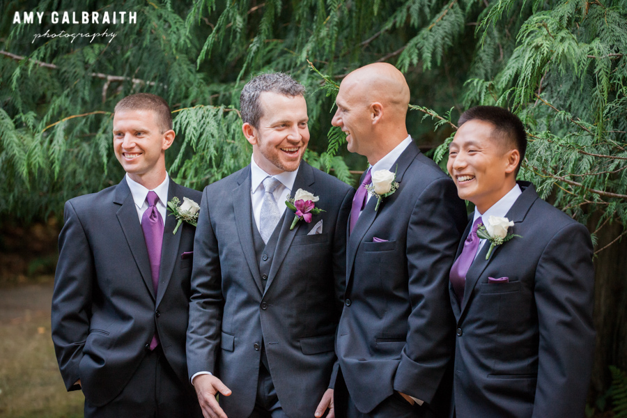 groomsmen laughing at each other