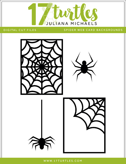 Halloween Spider Web Card BackgroundFree Digital Cut File by Juliana Michaels 17turtles