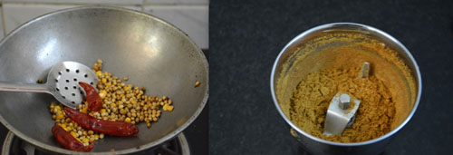 making masala podi