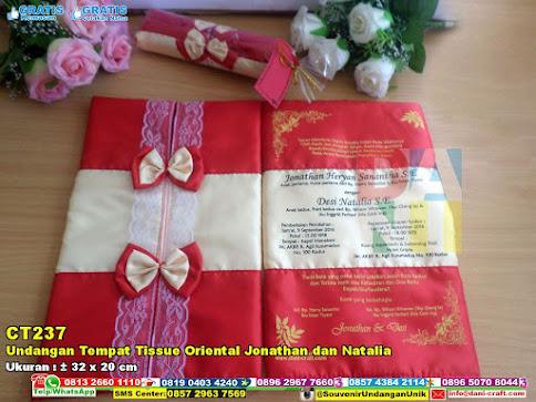 Undangan Tempat Tissue Oriental Jonathan Dan Natalia