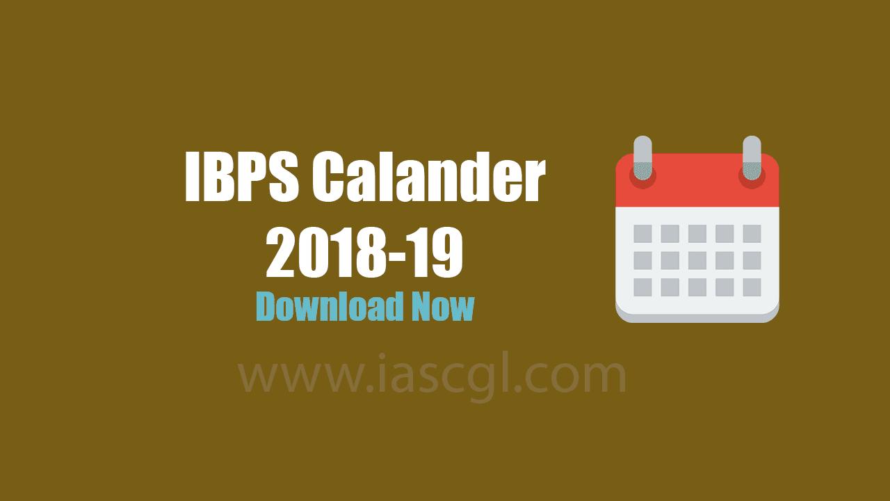 IBPS Calander Released