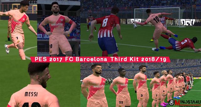 PES 2017 FC Barcelona Third Kit 2018/19 By Minosta4u