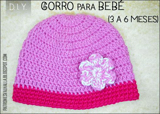 0e31d82b5a05c Patrón Gratis  Gorro para bebé a Crochet   0 a 3 meses (video ...