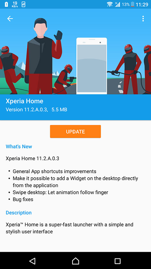 Xperia Home 11.2.A.0.3beta