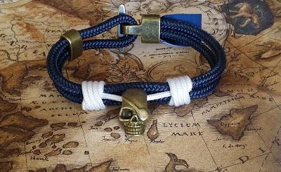 Pulsera calavera náutica - Nautical Skull bracelet