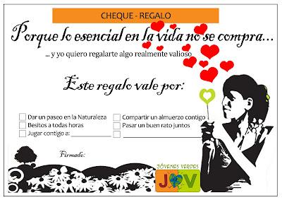 CHEQUE REGALO MARIA LUNARILLOS