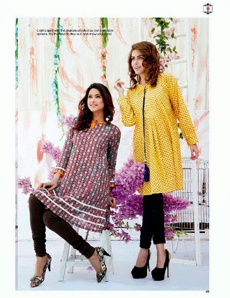 Ithad Introduce Rahat Lawn 2014 for Girls