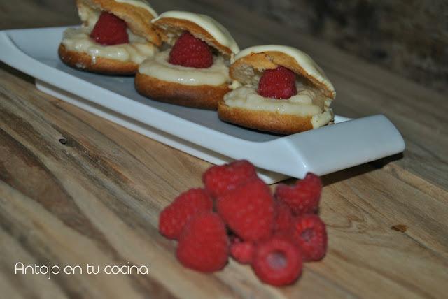 profiteroles-de-frambuesa-y-almendra, raspberry-petit-choux