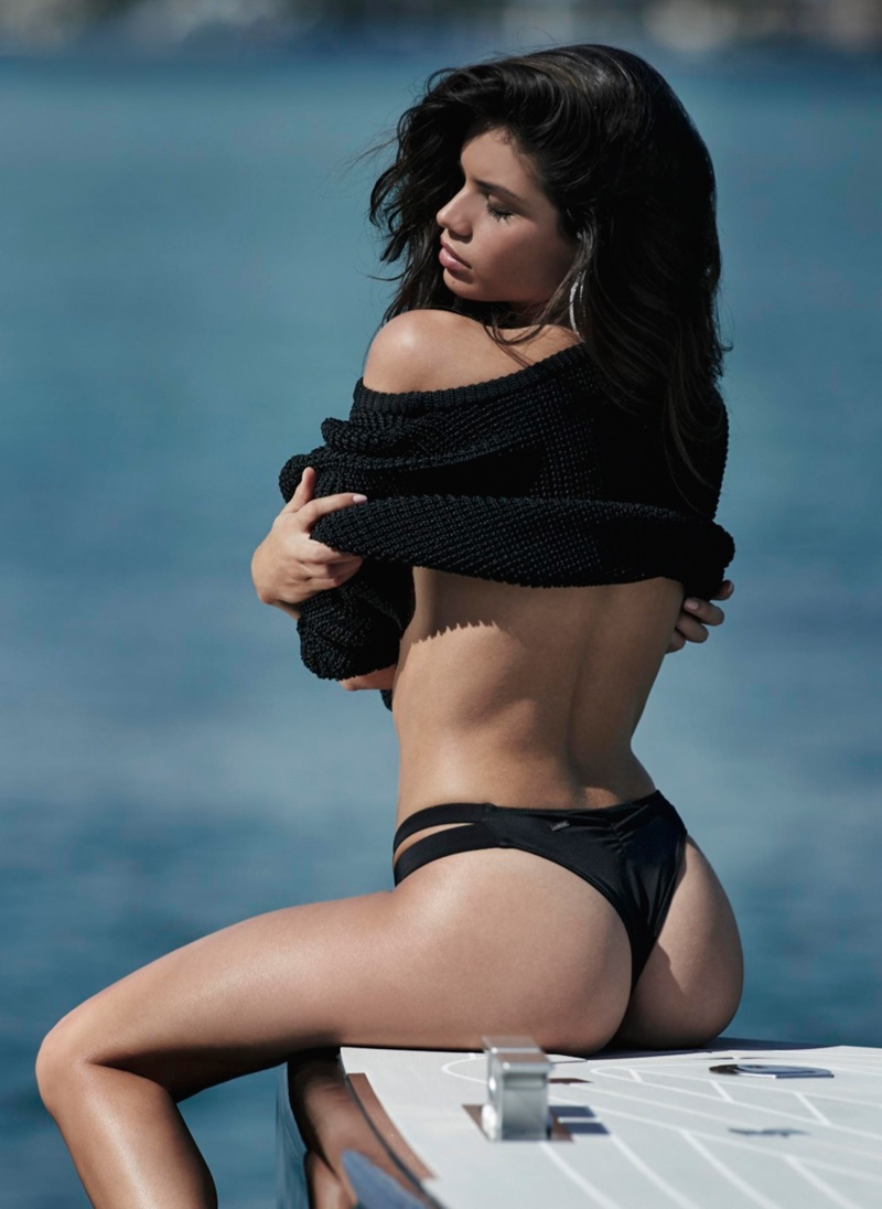 Sara Sampaio goes skinny dipping for Maxim