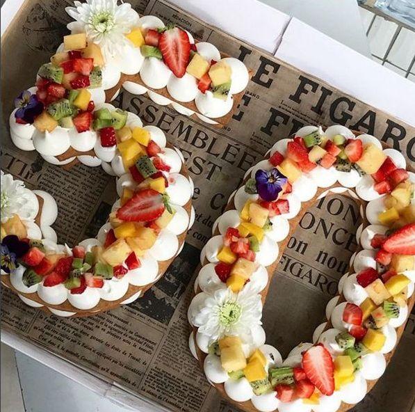 L Ortodimichelle Cake Trend Alert Numeri E Lettere Fiori E Frutta