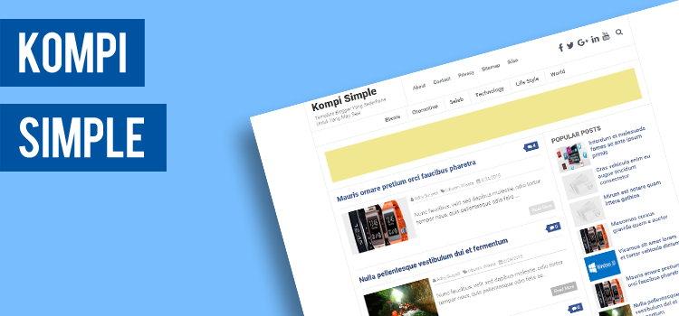 Kompi Simple, Template Blogger Yang Sederhana Untuk Yang Mau Saja