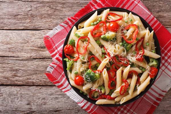 Evening meal - Penne primavera