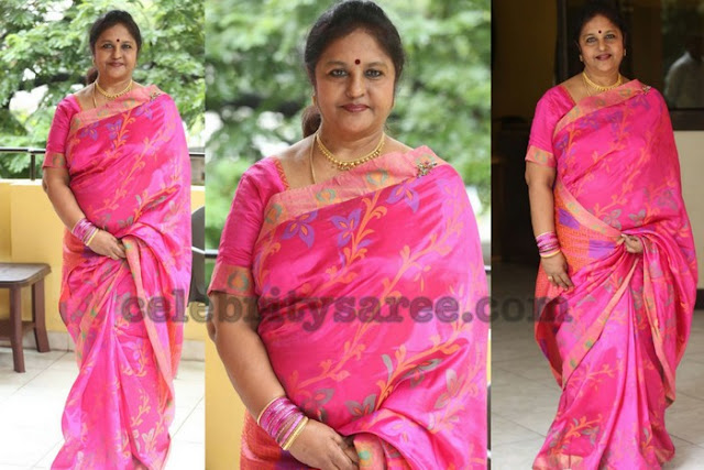 Sangeetha Pink Silk Saree