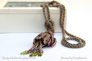 "Beaded necklace ""Fritillary"" beaded by PrettyNett.de"
