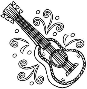 Coloring Pages for Kids: Guitar Coloring Pages for Kids