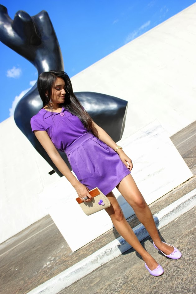 look do dia, blog de moda, look girlie, look monocromatico, look roxo, roxo, roupa roxa, purple