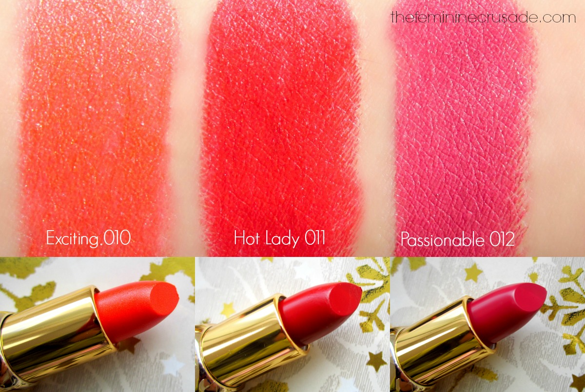 Astor 'Heidi Loves Hot Christmas' Lipsticks - swatches