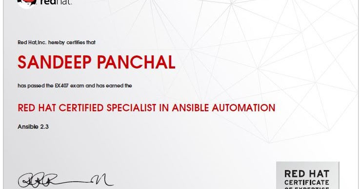 EX407 Certification for Ansible Automation | Amazing Draw