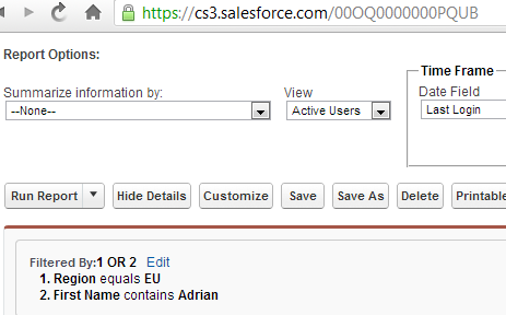 SimplySfdc com: Modify Salesforce report filters value with