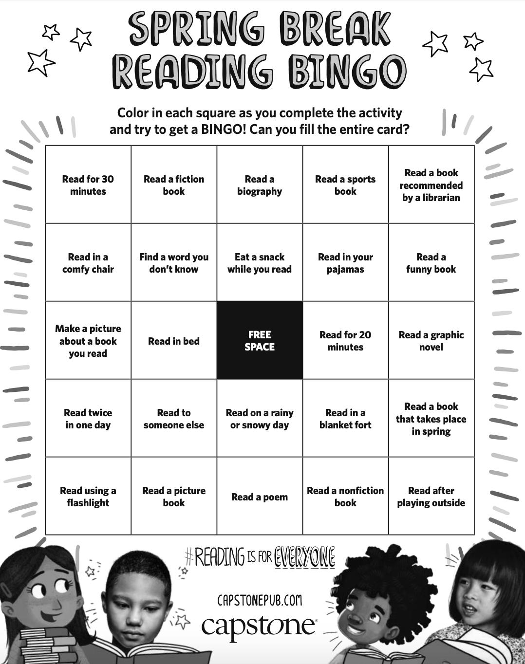 The Library Voice Spring Break Reading Bingo