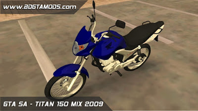 Download mod GTA SA - TITAN 150 MIX 2009