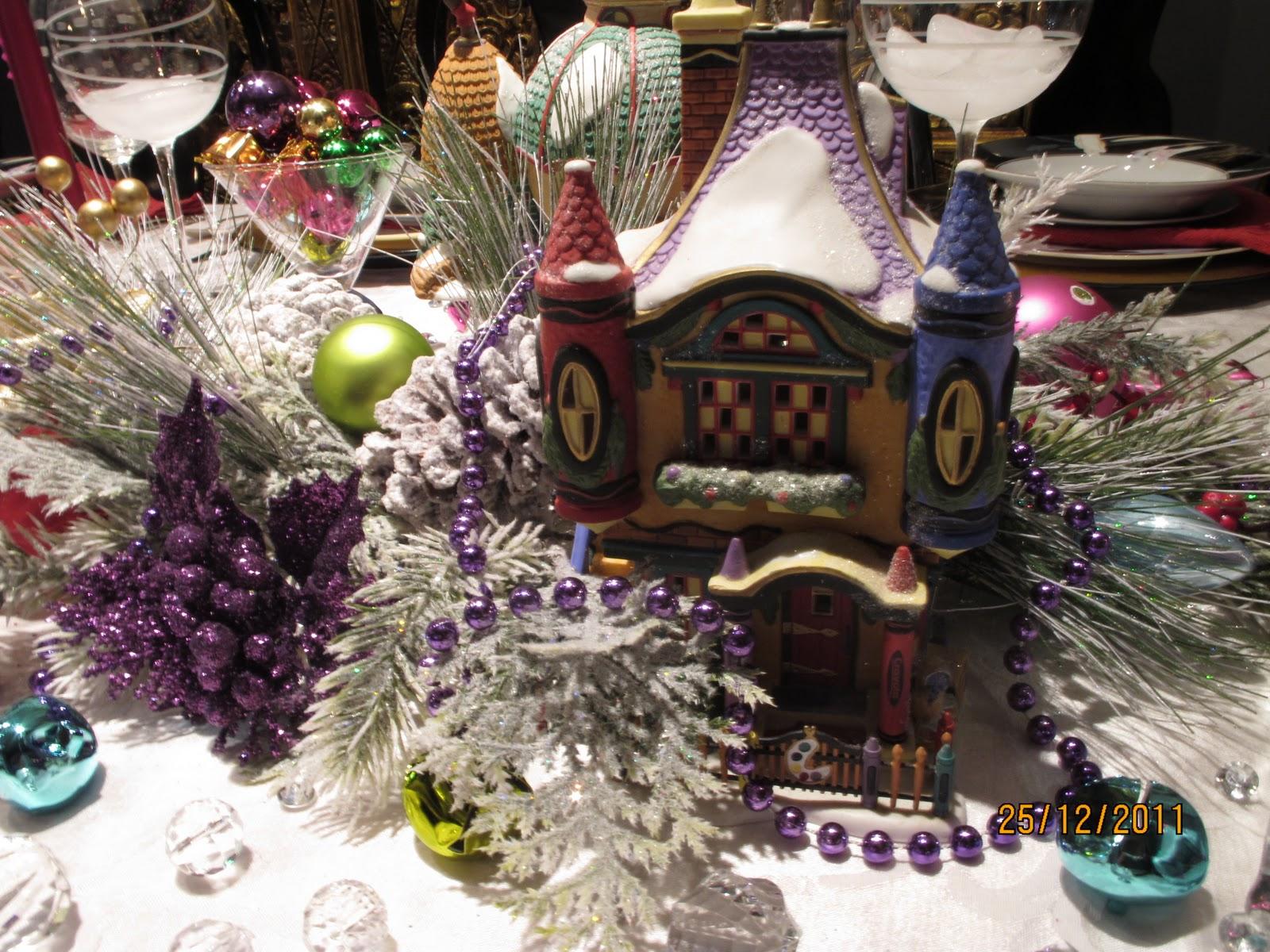 Christmas Village Fun Blog: Decorating the Christmas Table ...