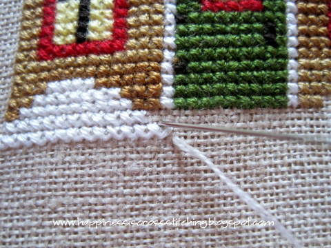 Cross stitching 2 over 2 on linen