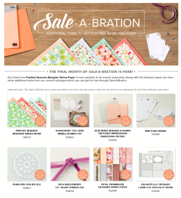 New Sale-A-Bration items Nigezza Creates Stampin' Up!