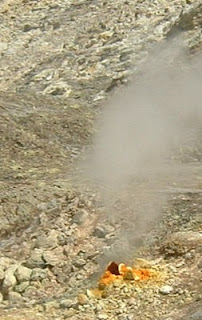 A typical fumarole at Solfatara in the Campi Flegrei just outside Naples