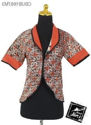 Desain Baju Batik Kerja Kantor Modern Terbaru