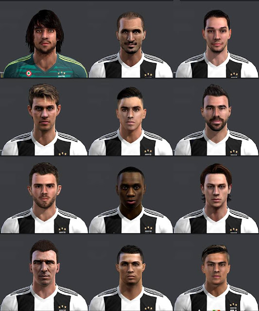 Ultigamerz Pes 2010 Pes 2011 Face: Ultigamerz: PES 2013 Juventus Full Face-Pack 2018/19
