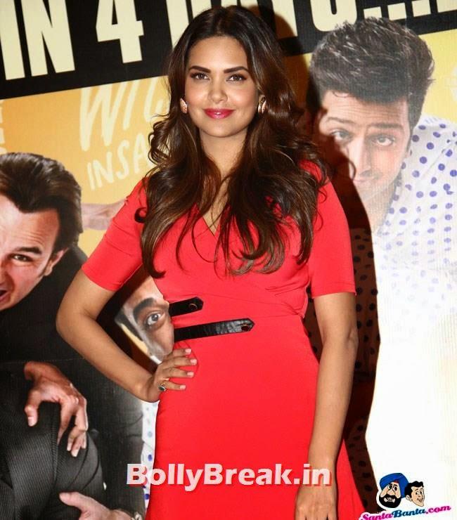 Esha Gupta, Esha Gupta Pics in Red Dress at Humshakals Success Party