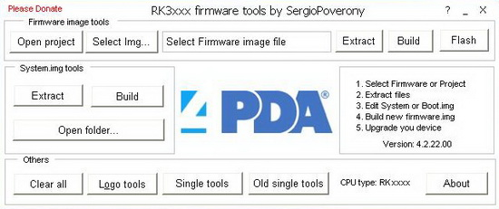 Download RK3xxx firmware tools by Sergio Poverony ~ flash rom androids