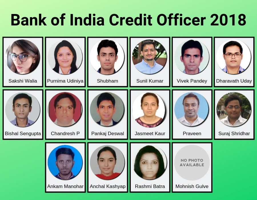 bank of india selections
