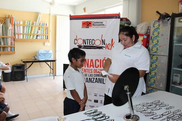 Contecon Manzanillo inicia exámenes de la vista para otorgar lentes a 400 estudiantes
