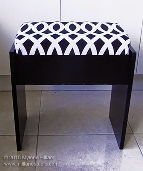 padded sewing stool