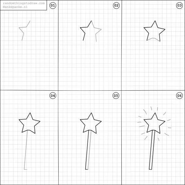 Cara Mudah Menggambar Tongkat Bintang Untuk Anak-Anak