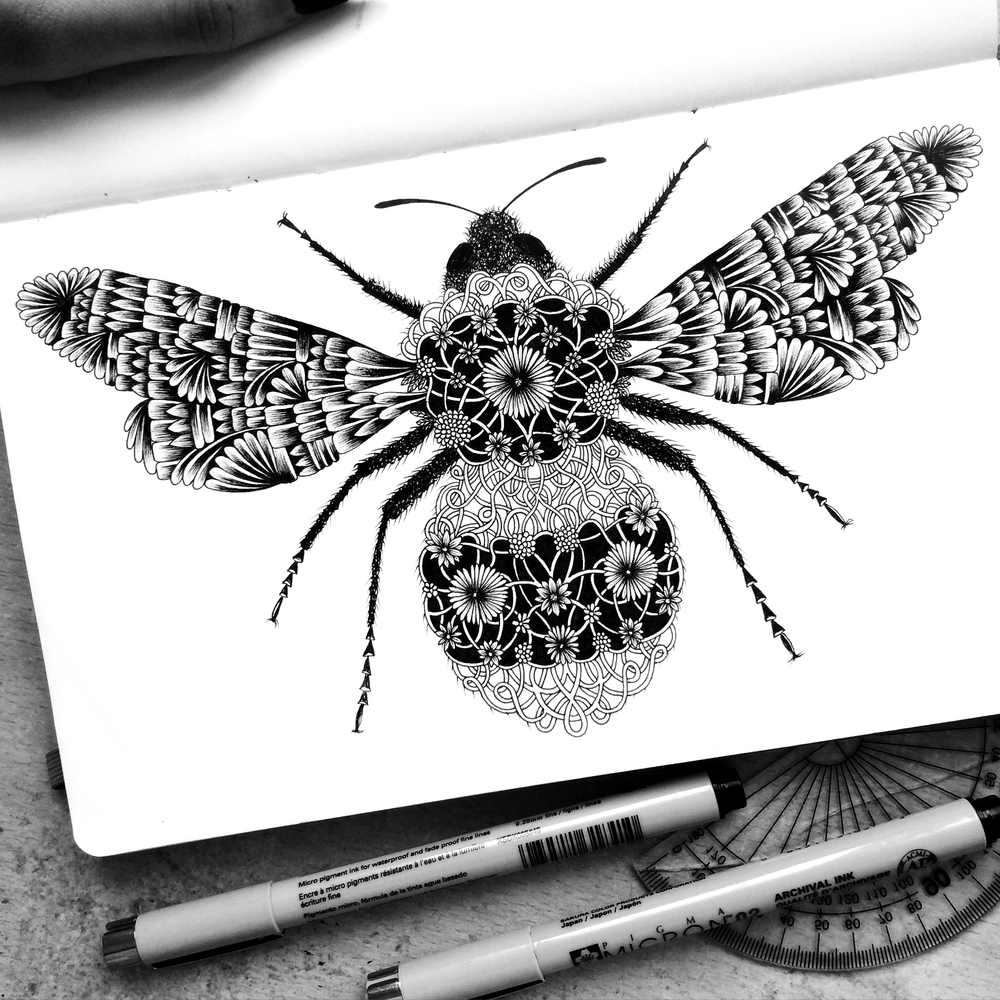 17-Honey-Pavneet-SembhiSelf-taught-Artist-Creates-Intricate-and-Detailed-Drawings-www-designstack-co