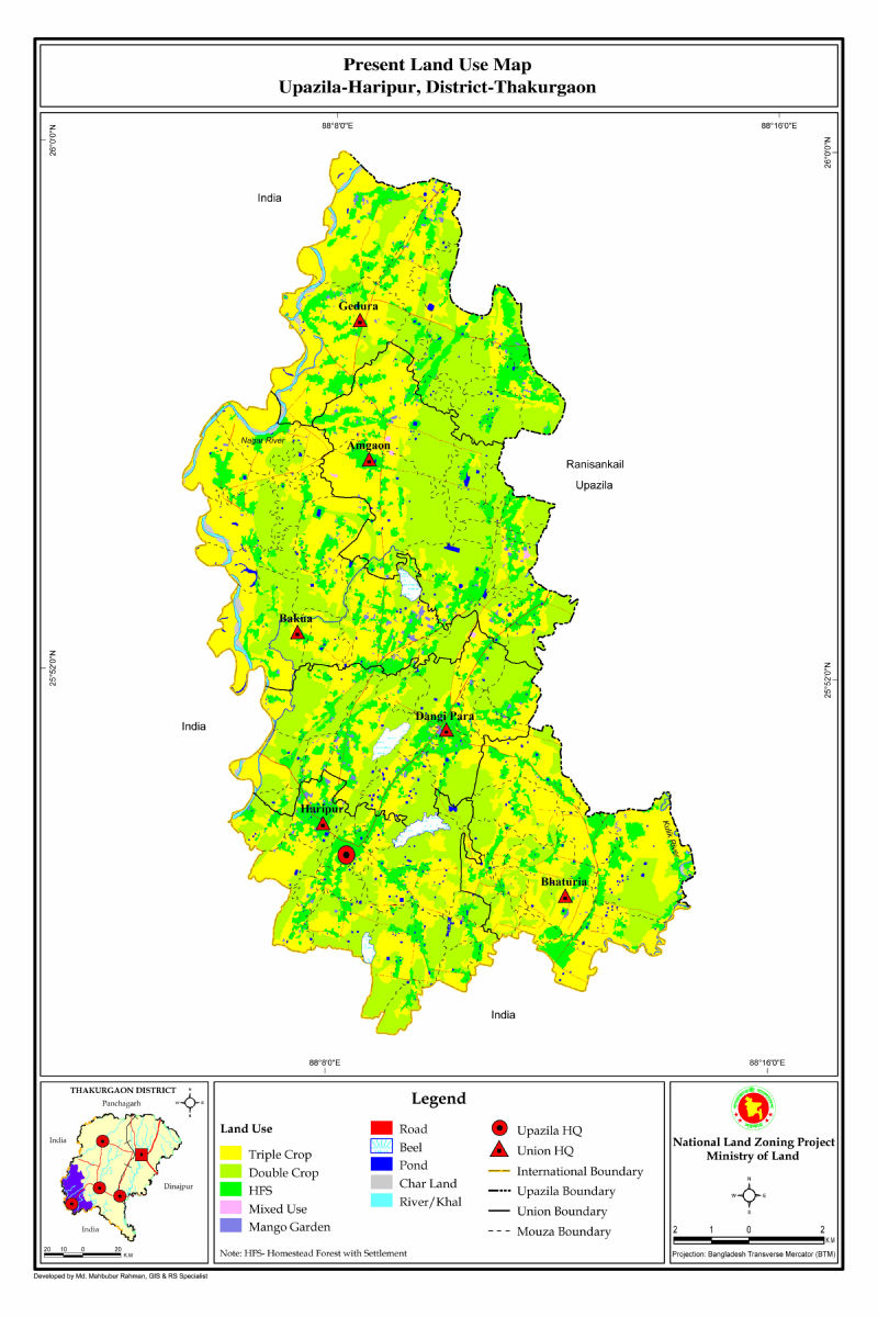 Haripur Upazila Mouza Map Thakurgaon District Bangladesh